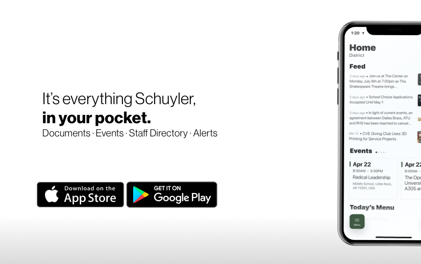 Schuyler's Updated Mobile App!